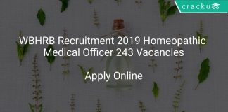 WBHRB Recruitment 2019 Homeopathic Medical Officer 243 Vacancies