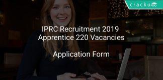IPRC Recruitment 2019 Apprentice 220 Vacancies