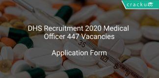 DHS Recruitment 2020 Medical Officer 447 Vacancies