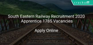 South Eastern Railway Recruitment 2020 Apprentice 1785 Vacancies