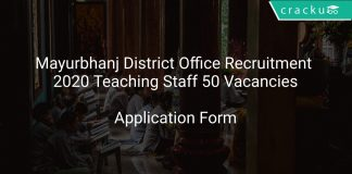 Mayurbhanj District Office Recruitment 2020 Teaching Staff 50 Vacancies