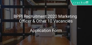 BPPI Recruitment 2020 Marketing Officer & Other 10 Vacancies