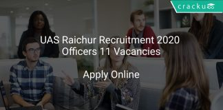 UAS Raichur Recruitment 2020 Officers 11 Vacancies