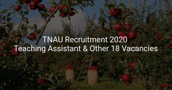 TNAU Recruitment 2020