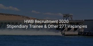 HWB Recruitment 2020
