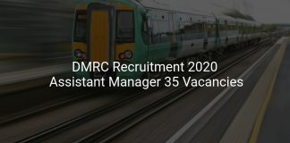 DMRC Recruitment 2020 Assistant Manager 35 Vacancies