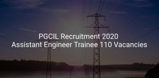 PGCIL Recruitment 2020