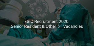 ESIC Recruitment 2020