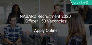 NABARD Recruitment 2020 Officer 150 Vacancies