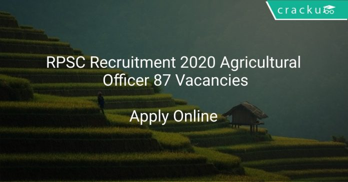 RPSC Agricultural Officer Recruitment 2020