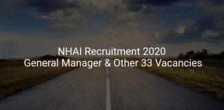 NHAI Recruitment 2020