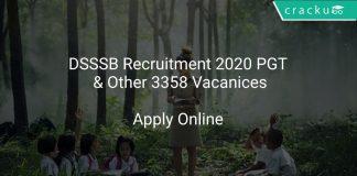 DSSSB Recruitment 2020 PGT & Other 3358 Vacanices