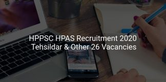 HPPSC HPAS Recruitment 2020