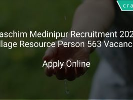 Paschim Medinipur Recruitment 2020 Village Resource Person 563 Vacancies