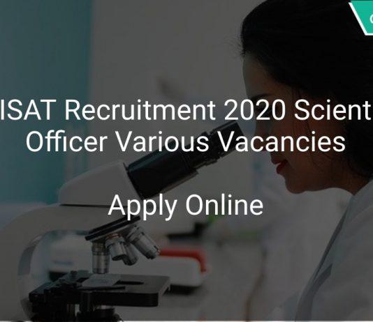 ICRISAT Recruitment 2020