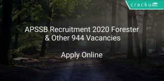 APSSB Recruitment 2020 Forester & Other 944 Vacancies