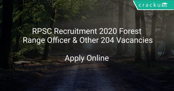 RPSC Forest Officer Recruitment 2020