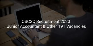 OSCSC Recruitment 2020