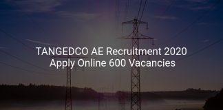 TANGEDCO AE Recruitment 2020