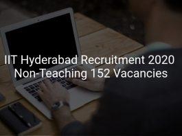 IIT Hyderabad Recruitment 2020