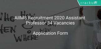 AIIMS Assistant Professor Recruitment 2020