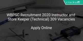 WBPSC Instructor Recruitment 2020