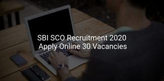 SBI SCO Recruitment 2020