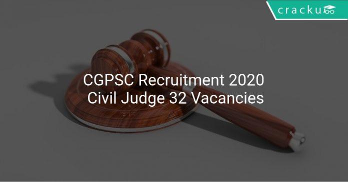 CGPSC Recruitment 2020