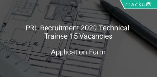 PRL Recruitment 2020 Technical Trainee 15 Vacancies