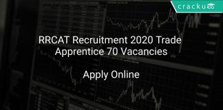 RRCAT Recruitment 2020