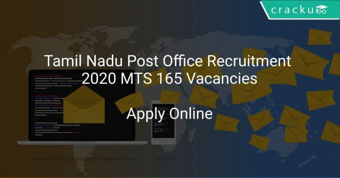Tamil Nadu Post Office Recruitment 2020