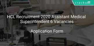 HCL Recruitment 2020 Assistant Medical Superintendent 6 Vacancies