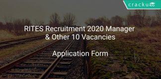 RITES Recruitment 2020 Manager 10 Vacancies