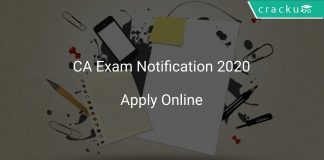 CA Entrance Exam 2020 Notification