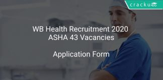 WB Health Recruitment 2020 ASHA 43 Vacancies