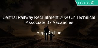 Central Railway Recruitment 2020 Jr Technical Associate 37 Vacancies
