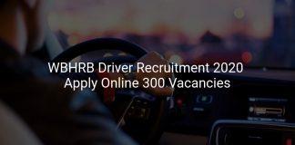 WBHRB Driver Recruitment 2020