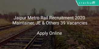 Jaipur Metro Rail Recruitment 2020 Maintainer, JE & Others 39 Vacancies