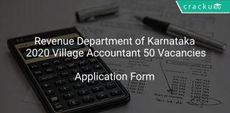 Revenue Department of Karnataka 2020 Village Accountant 50 Vacancies