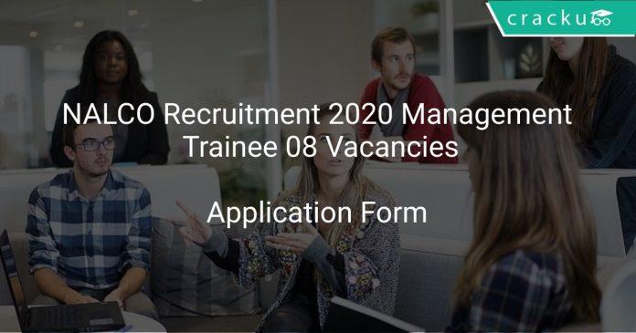 NALCO Recruitment 2020 Management Trainee 08 Vacancies
