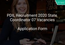PDIL Recruitment 2020 State Coordinator 07 Vacancies