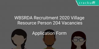 WBSRDA Recruitment 2020 Village Resource Person 204 Vacancies