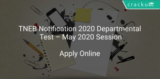 TNEB Notification 2020 Departmental Test – May 2020 Session