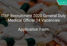 ITBP Recruitment 2020 General Duty Medical Officer 14 Vacancies