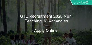 GTU Recruitment 2020