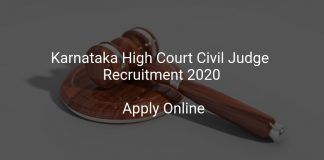 Karnataka High Court Civil Judge Recruitment 2020