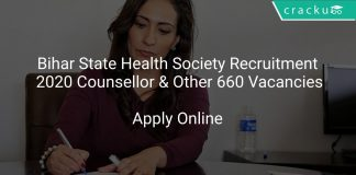 Bihar State Health Society Recruitment 2020 Counsellor & Other 660 Vacancies