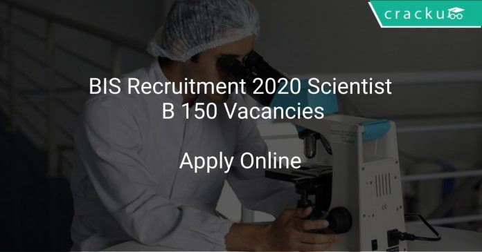 BIS Scientist B Recruitment 2020