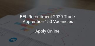 BEL Recruitment 2020 Trade Apprentice 150 Vacancies