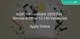 BSSC Recruitment 2020 Fire Service & Other 12,140 Vacancies